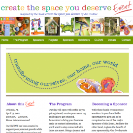 Create the Space You Deserve Conference / Event Website